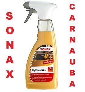SONAX-HIGH-SPEED-WAX-500ml-RENOVATEUR-CIRE-POLISH-CARNAUBA-PEUGEOT-207-1-6-TURBO