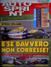 Autosprint 4 1993 Intrigo Williams. Novità F1 Larrousse LC93, Minardi M193 SC.54