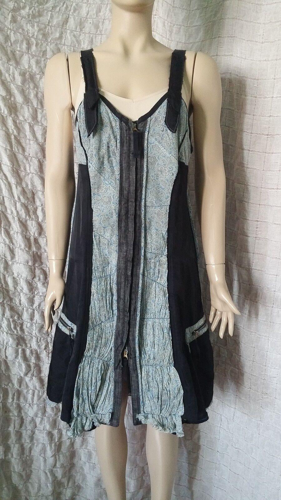 Marithe Francois Girbaud Le Jean denim mix asymmetrical dress Größe 42