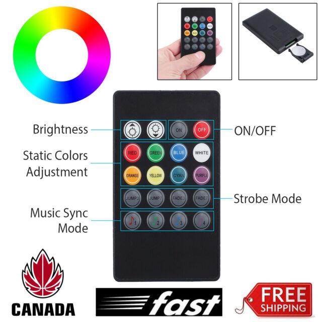 For 5050 3528 RGB Light Strip IR Remote Controller 20 Key LED Sound Sensor Music