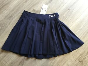 4e4d5a7b Details about Fila Navy Pleated Tennis Skirt In Luxe Fabric - Size 8 - New  With Tags