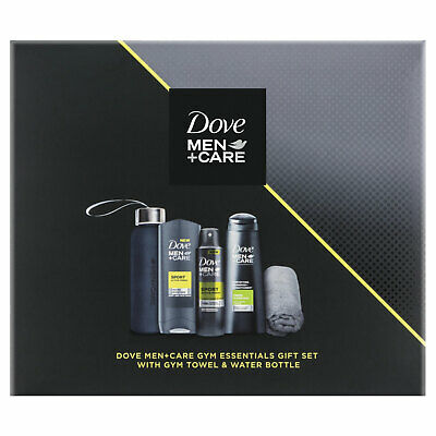 Dove Men+Care Gym Essentials Gift Set With Gym Towel & Water Bottle