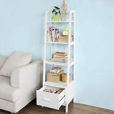 SoBuy® Scaffale a scala,Libreria,Mensole da angolo,con Cassetto,FRG116-K-W,IT