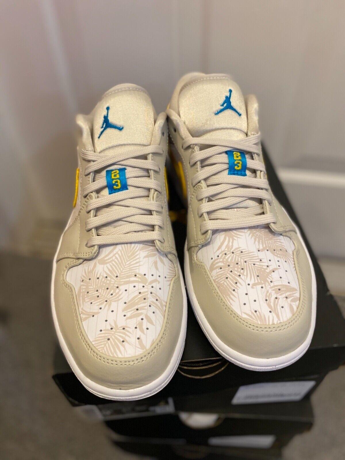 Nike Air Jordan 1 Phat Mens 364770 101 White Grey Yellow