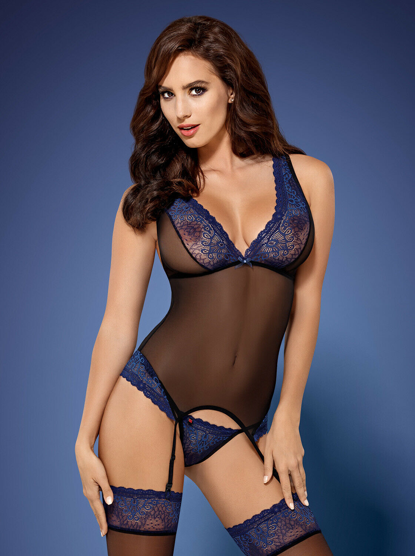 Sexy Obsessive 850 Cor Corsé Tanga S-XL black blue Ropa Interior Sexy women