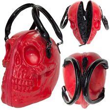 Kreepsville Skull Collection Red Gothic Punk Halloween Handbag Purse Bag BGSCR