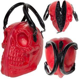 Rosso Gotico Halloween Collezione Bgscr Borsa Punk Kreepsville Della Skull pxHqzR