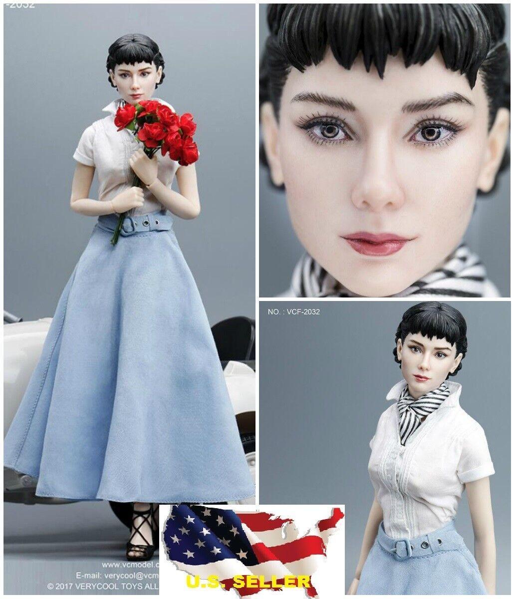 Escala 1/6 Audrey Hepburn Completo Figura Set VCF-2032 Romano Vacaciones Toys Hot  USA