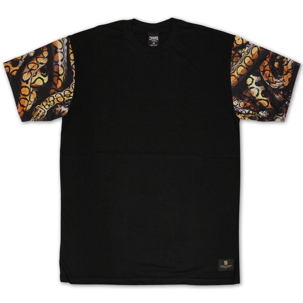 Crooks & Castles Python T-shirt Schwarz