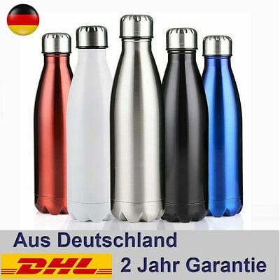 1L Isolierflasche Thermosflaschen Edelstahl Thermobehälter Trinkflasche -
