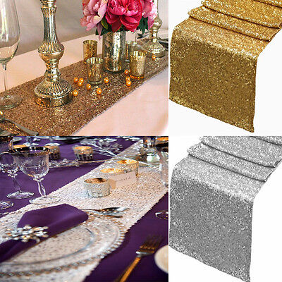 Excellent 30X275Cm Sparkly Sequin Table Runner Cover Fabric Rose Gold Silver Wedding Party Ebay Alphanode Cool Chair Designs And Ideas Alphanodeonline