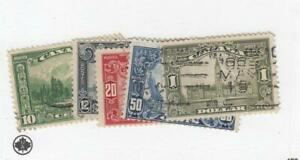 CANADA-MK4711-155-159-FVF-USED-1-10-12-20-50cts-1929-SCROLL-ISSUES-CV-128