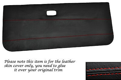 RED STITCH 2X FRONT DOOR CARDS LEATHER SKIN COVERS FITS VW GOLF MK1 CABRIO