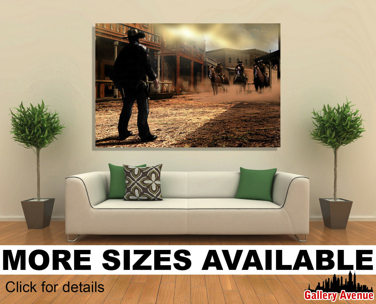 Wall Art Canvas Picture Print - Wild West Cowboy Duel 3.2