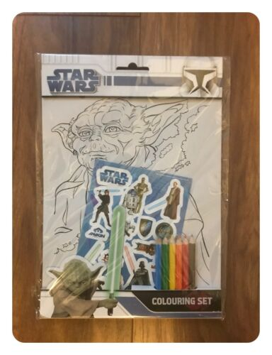Star Wars Sticker /& Colouring Pack With Pencils Alligator Publishing New Sealed
