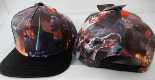 Star Wars Luke Han Solo Leia C-3po R2D2 Lando Faux Leather PU Snap Back Hat Nwt