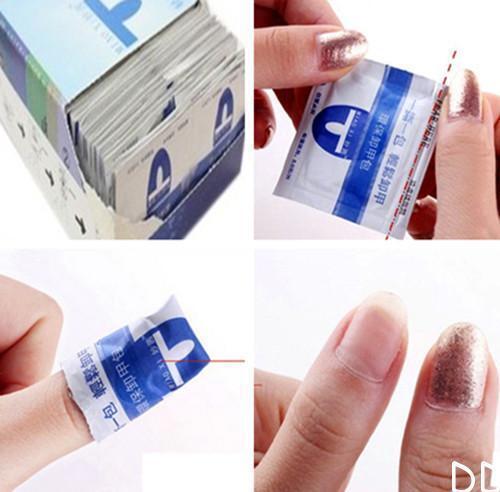 DI UK 20Pcs Gel Lacquer Nail Polish Foil Easy Remover Cleaner Wraps Acetone Kit