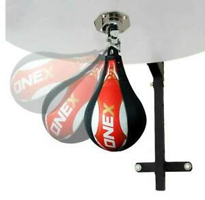 Leather-Speed-Ball-Boxing-Punch-Bag-Training-Martial-Arts-MMA-Gym-Exercise-Ball