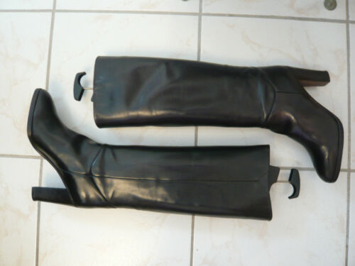 vintage Stephane Stivali 7 T 5 Kelian proto noir 40 adwWpBq4