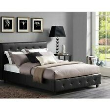 Full Size Bedroom Set 3 Piece Modern Black Design Leather Headboard ...