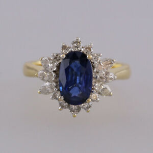 1-0-Carat-Sapphire-and-Diamond-Cluster-Ring-18ct-Yellow-Gold-Size-J-1-2