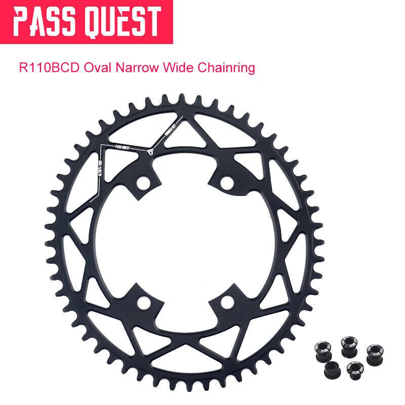 PASS QUEST 110BCD Oval Road Bike Narrow Wide Chainring Bike Chainwheel 42T52T