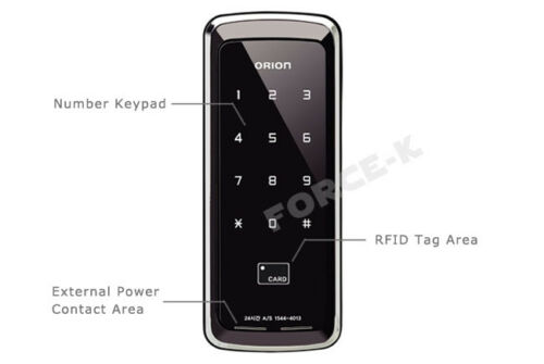 Unicor ORION UN-320S for Sash Door Keyless Lock Digital Doorlock RFID Card 2Way