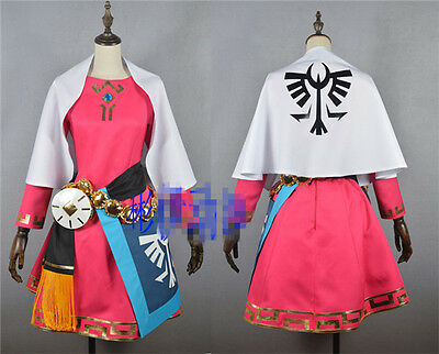 The Legend Of Zelda Skywardsword Princess Zelda Cosplay Costume Pink Dress Ebay