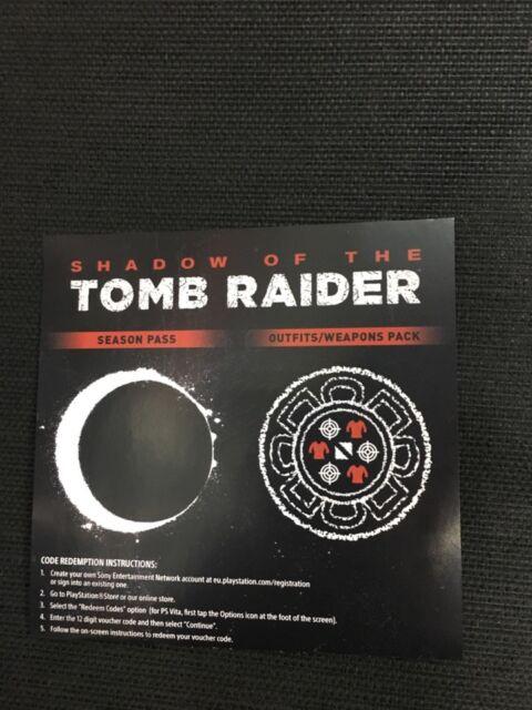 OMBRA di Tomb Raider Season Pass e abiti armi Pack XBOX ONE DLC nessun gioco