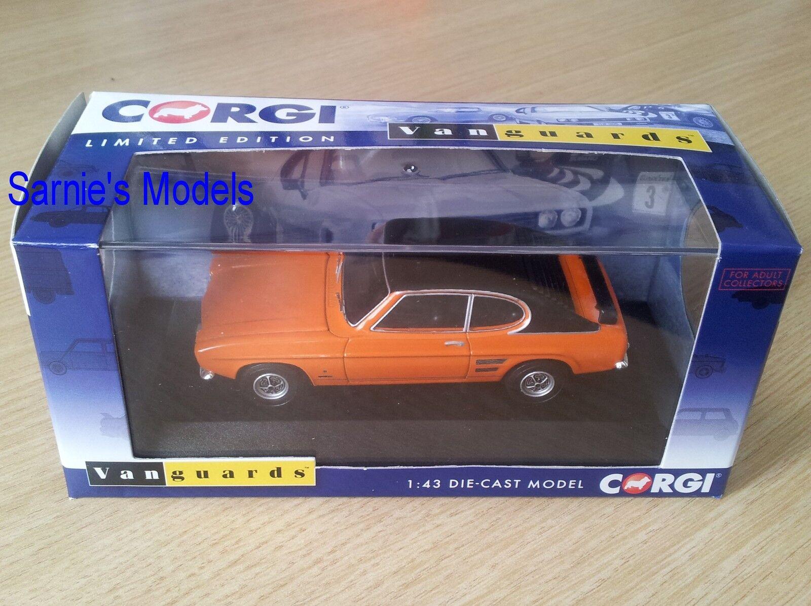 Corgi Vanguards - Ford Capri Mk1 1.6GT XLR 'Vista orange' Ltd.Ed. - 1 43 NEW