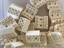 Lego-slope inverted 4x 45 4x4 2 boat hull holes white//white 72454 new