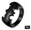 Anello-Batman-Nero-Argento-Uomo-Donna-Acciaio-Inox-Personalizzabile-Incisione miniatura 9