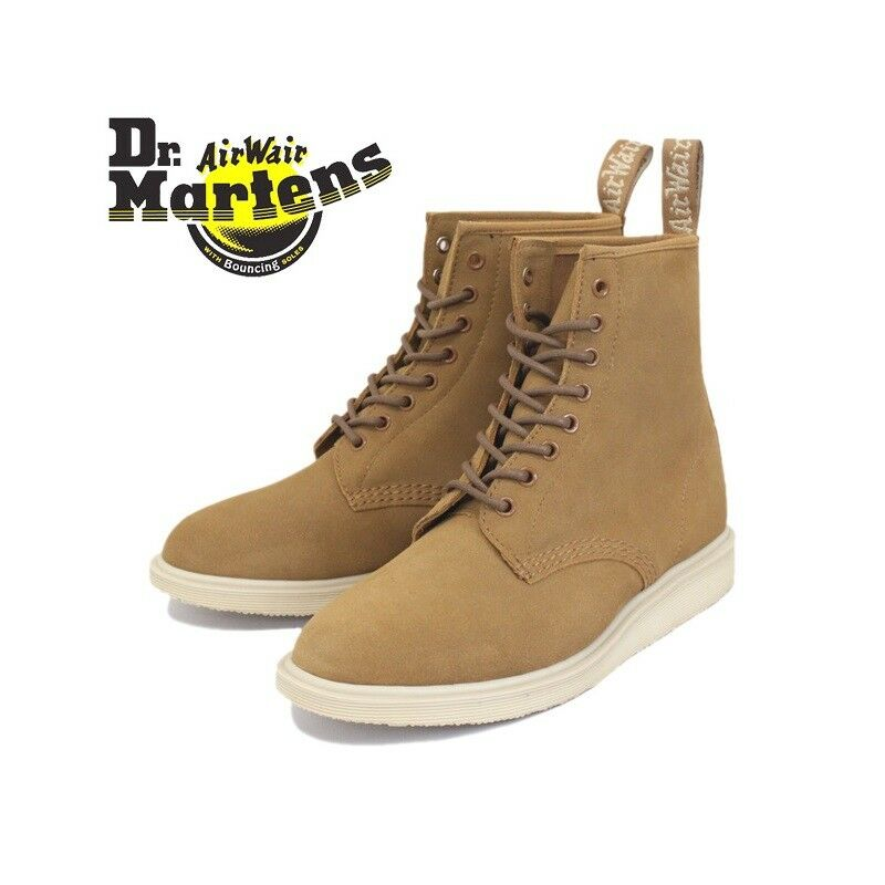 Dr In Martens Whiton Hi Suede 8-eye Stiefel In Dr Biscuit - UK 12 6f6eee
