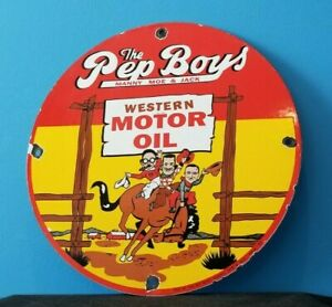 VINTAGE-PEP-BOYS-MOTOR-OIL-PORCELAIN-GAS-MOTOR-OIL-SERVICE-STATION-PUMP-SIGN