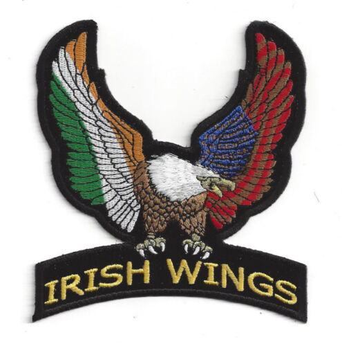 IRELAND USA EAGLE WING IRISH COUNTRY HAT VEST FLAG PATCH SOUVENIR PIN UP EUROPE