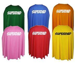 "Adults 35/"" Super Dad Superhero Fathers Day Fancy Dress Cape Gift Idea"