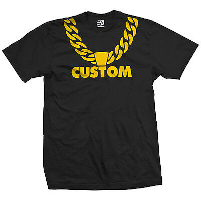 Custom Dookie Chain T-Shirt - Gold Rope Necklace Hip Hop - All Sizes & Colors