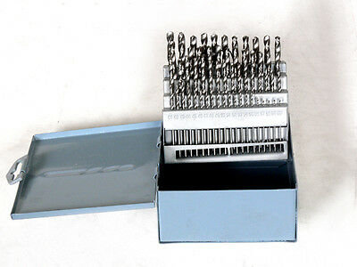 60PC HSS DRILL BIT SMALL POLISHED NUMBERED SIZES 1-60