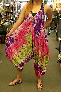 New-Ladies-Die-Dyed-Summer-Jumpsuit-Play-suit-Sizes-10-To-16