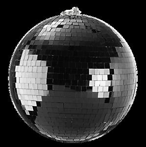 Spiegelkugel-20cm-schwarz-Discokugel-Mirrorball-20cm-black