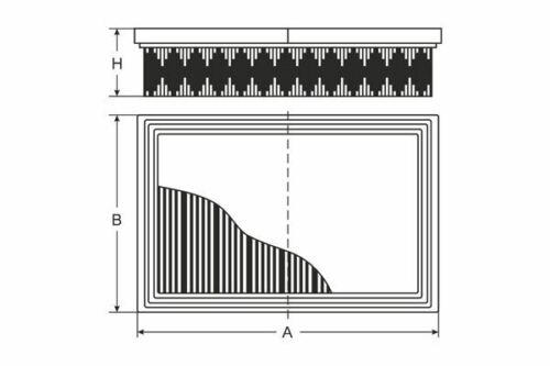 FC SB2130 Air Filter for CITROEN BERLINGO C2 C3 // C3 X-TR C3 PLURIEL C3 A51