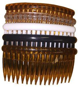 Plastic Hair clips side comb set 16 Teeth Bridal Hair Accessories.