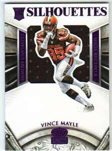 new concept ae46a b08e0 Details about 2015 Panini Crown Royale Silhouette RC Jersey Purple /25 #241  Vince Mayle Browns