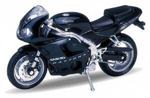 Welly-Modello-Moto-1-18-2002-TRIUMPH-DAYTONA-955i-VERDE-SCURO-4-3-034-Nuovo-E-Box
