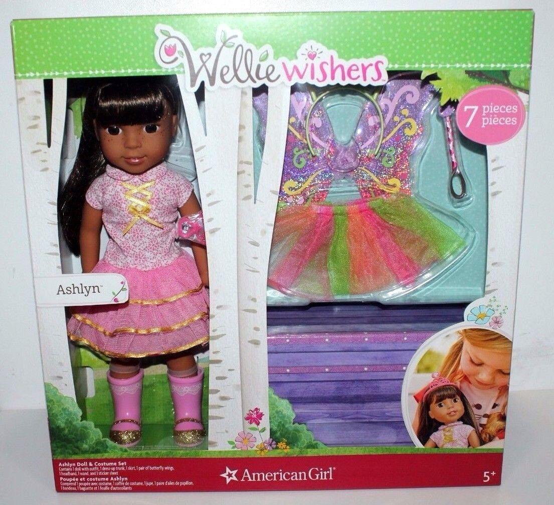 Wellie wishers Muñeca American Girl Ashlyn 7 Piezas Set Coleccionable