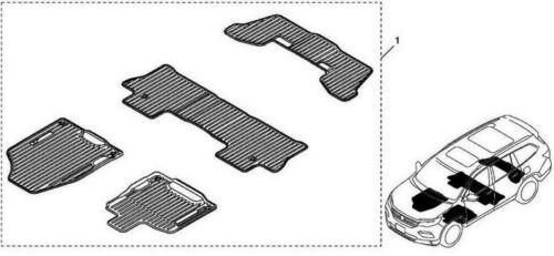 Genuine OEM Honda Pilot All Season Floor Mat Set Folding Cargo Mat  2016-2018