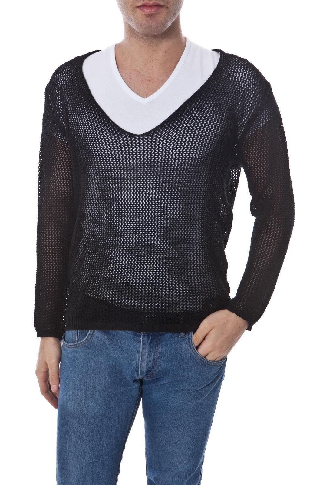 Maglia Daniele Alessandrini Sweater MADE IN ITALY  Herren Nero FM85750F3302 1