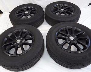 18 jeep grand cherokee factory oem black dodge durango wheels rims tires 9136 ebay. Black Bedroom Furniture Sets. Home Design Ideas