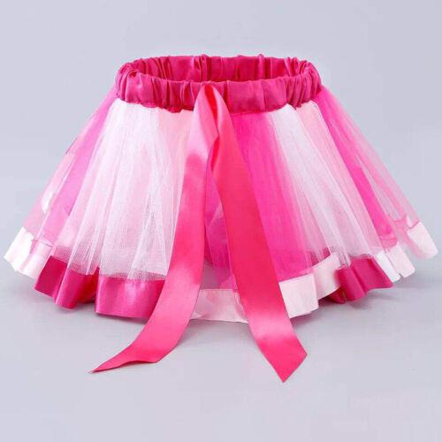New Children Baby Girls Short Tutu Skirt Mesh Colorful Fluffy Dance Half-length