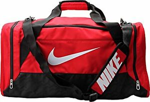Excremento lila voltaje  Nike Brasilia 6 MEDIUM Duffel Bag BA4829 601 Gym Travel Red/Black NWT | eBay